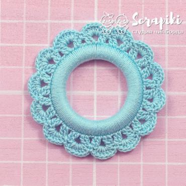 1548KN, Blue ring 6 cm inner diameter, 2.5 cm