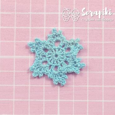 1551KN, Snowflake blue 4cm