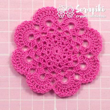 1751KN, Napkin large dark pink 8 cm