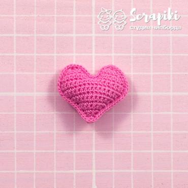 1754KN, Dark pink heart 3 cm
