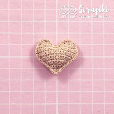 1755KN, Heart beige 3 cm