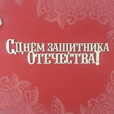 23М002, the inscription 'Happy Defender of the Fatherland Day'