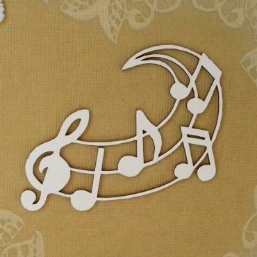 М003, Chipboard 'Treble clef-monogram'