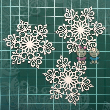 CA018, Set of safets 'Snowflake'
