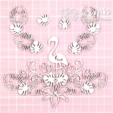 1658MI, Set 'Flowers Tropic, Flamingo'