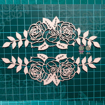 R01-068, Chipboard 'Border Rose'