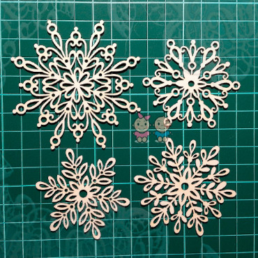 CA019, Set of napkins 'Snowflake'