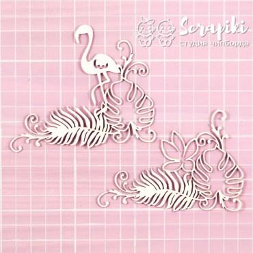 1655CC, Flamingo Monstera Leaf Set