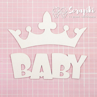 1594EM, Embossing blank 'BABY with crown' 1.55 mm