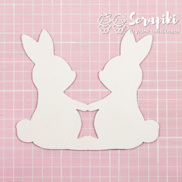 1595EM, Blank for embossing 'Bunnies' 1.55 mm