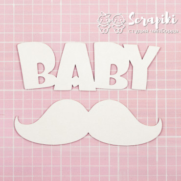 1596EM, Blank for embossing 'BABY with mustache' 1.55 mm