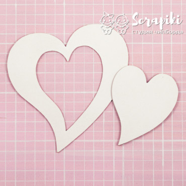 1599EM, Blank for embossing 'Two hearts' 1.55 mm