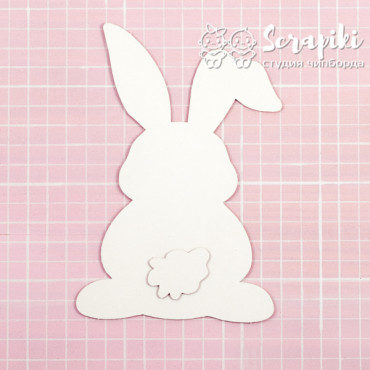 1607EM, Blank for embossing 'Bunny and tail' 1.55 mm