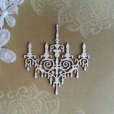 chipboard 'chandelier'